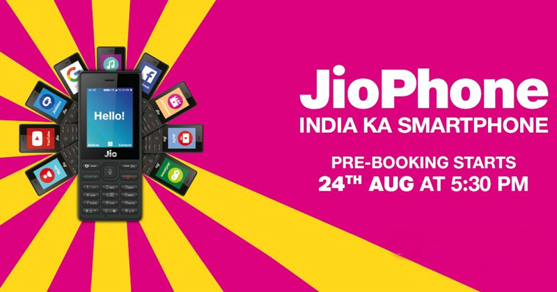 book jio phone online and offline